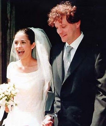 Actor Colin Firth and wife Livia Giuggioli during their wedding on June 21, 1997 in Città di Pieve in Italy