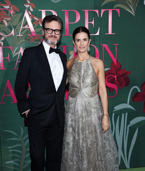 Producer Livia Giuggioli and husband Colin Firth at the Green Carpet Fashion Awards