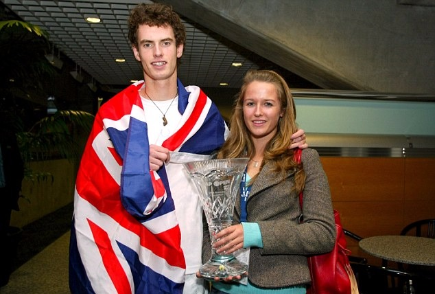 Kim Sears and Andy Murray photographed after Andy's win at SAP Open 2006.
