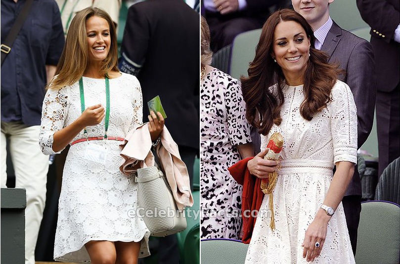 Kim Sears and Kate Middleton at Wimbledon 2014