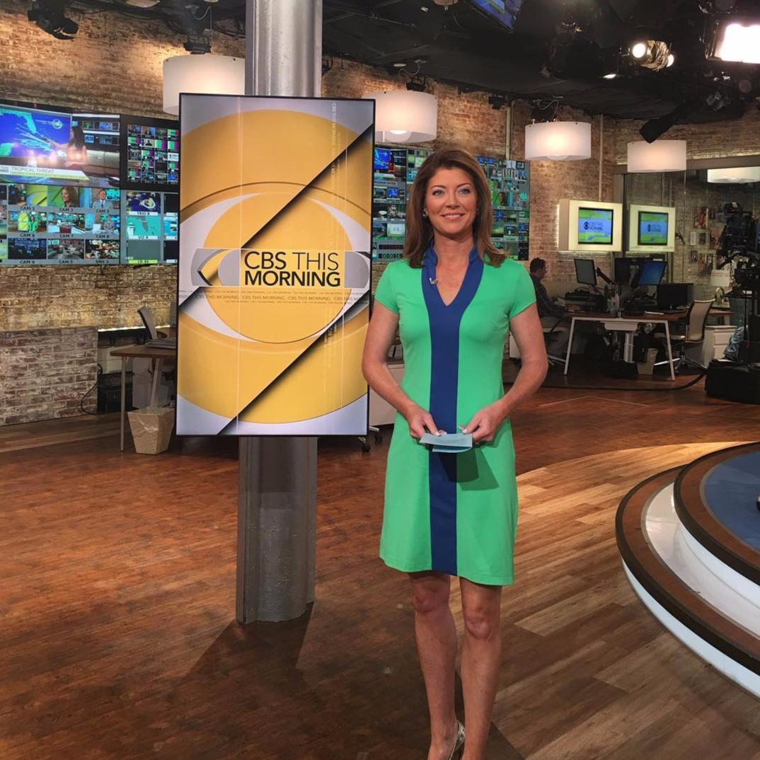 Norah O'Donnell looking hottest and gergeous in green dress.