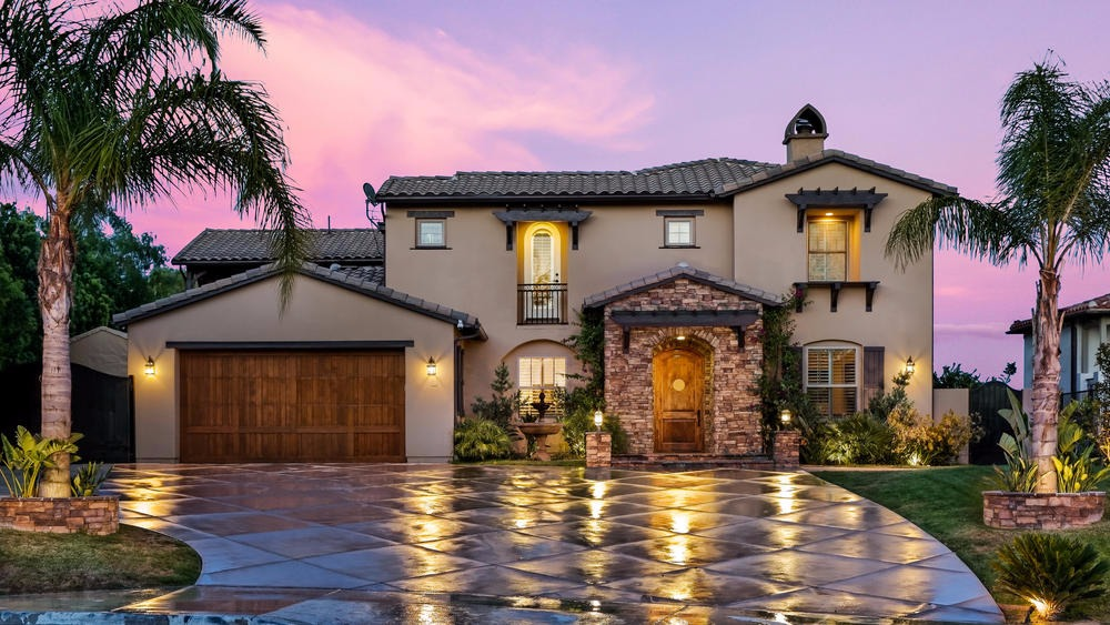 A beautiful view of Alfonso Ribeiro's Granada Hills house from the front