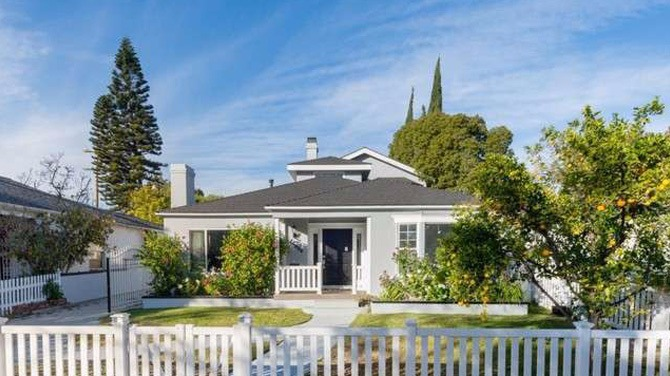 A view of Alfonso Ribeiro's Toluca Lake-based house