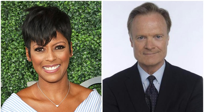 Side by side pictures of Tamron Hall and Lawrence O'Donnell