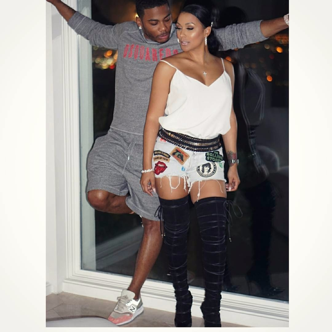 Shantel Jackson out for celebrating Nelly's birthday, she seems to be a cool girlfriend.