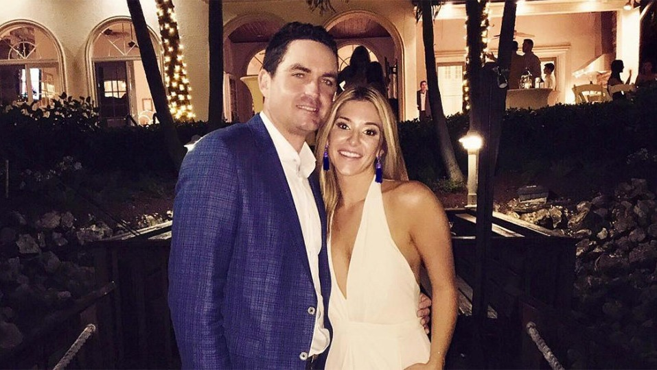 The beautiful picture of newly wedded couple, Keegan Bradley and Jillian Stacey