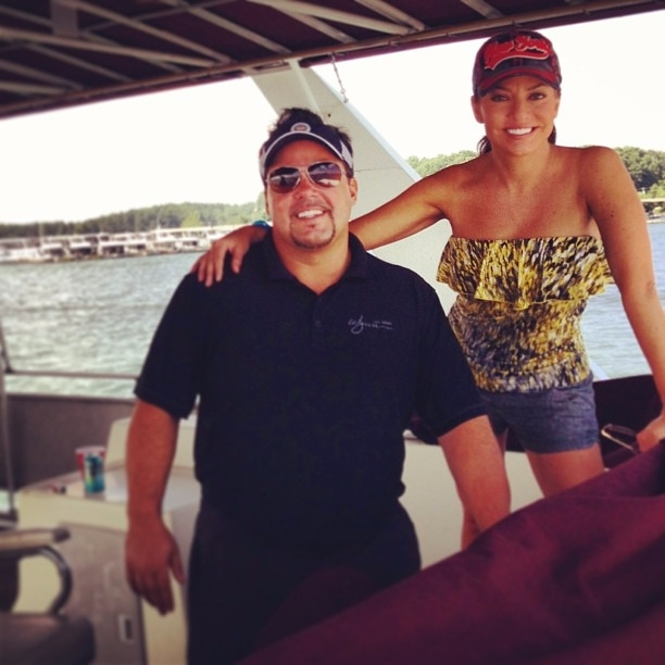 Tim Yeager and wife Robin Meade happy on days out