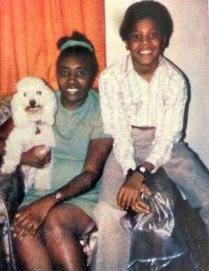 Judge Greg Mathis during his young age with his mom, Alice Lee Mathis