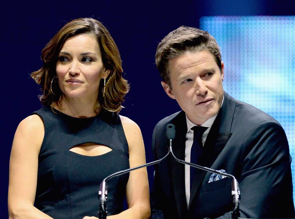 Kit Hoover with her 'Access Hollywood Live' co-host Billy Bush