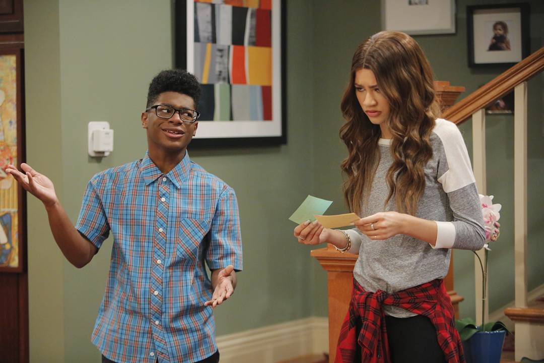 A Still from K.C. Undercover with Kamil McFadden and Zendaya
