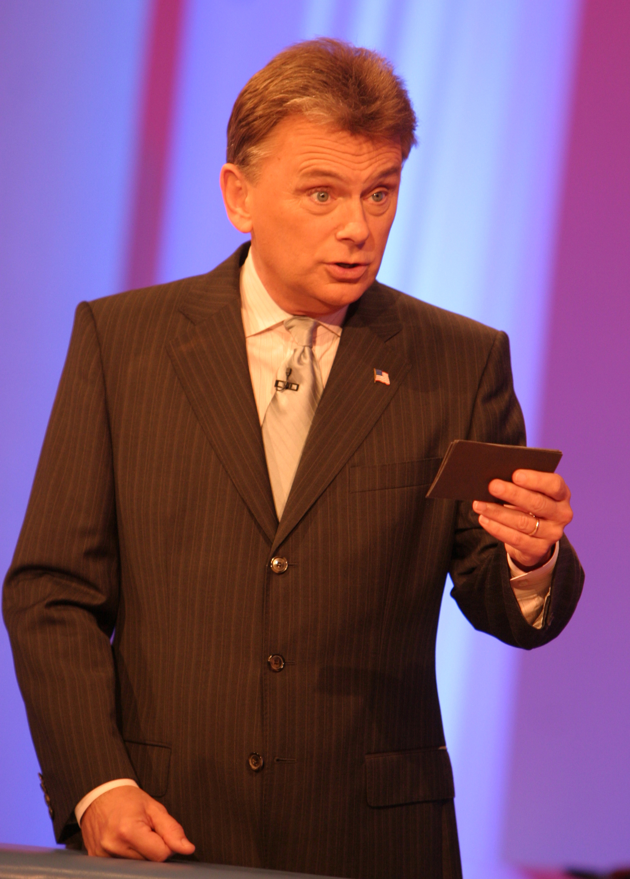TV host Pat Sajak during the hosting of Wheel of Fortune