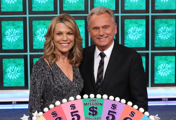 Wheel of Fortune co-host Pat Sajak and Vanna White