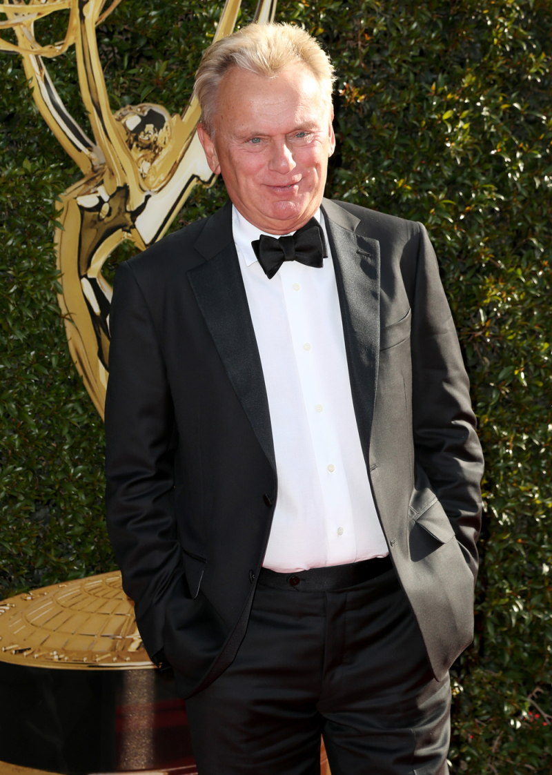 TV host Pat Sajak during the Emmy Awards. Wheel of Fortune host Pat Sajak has been hosting the show since 1981 and still has a 2 year contract with them.