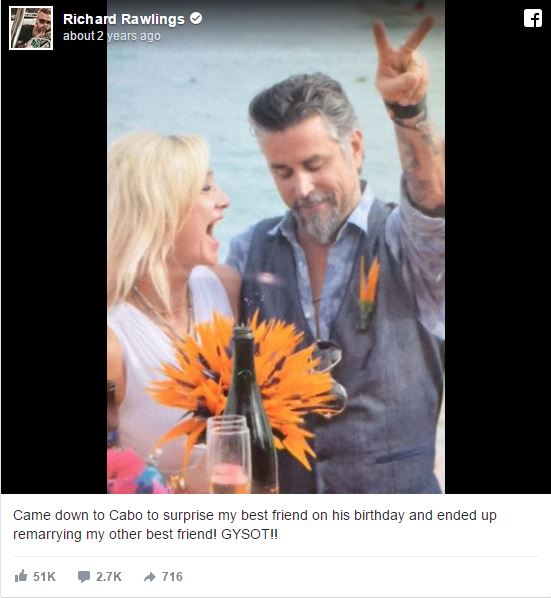 Suzanne Rawlings and Richard Rawlings enjoying in Cabo.