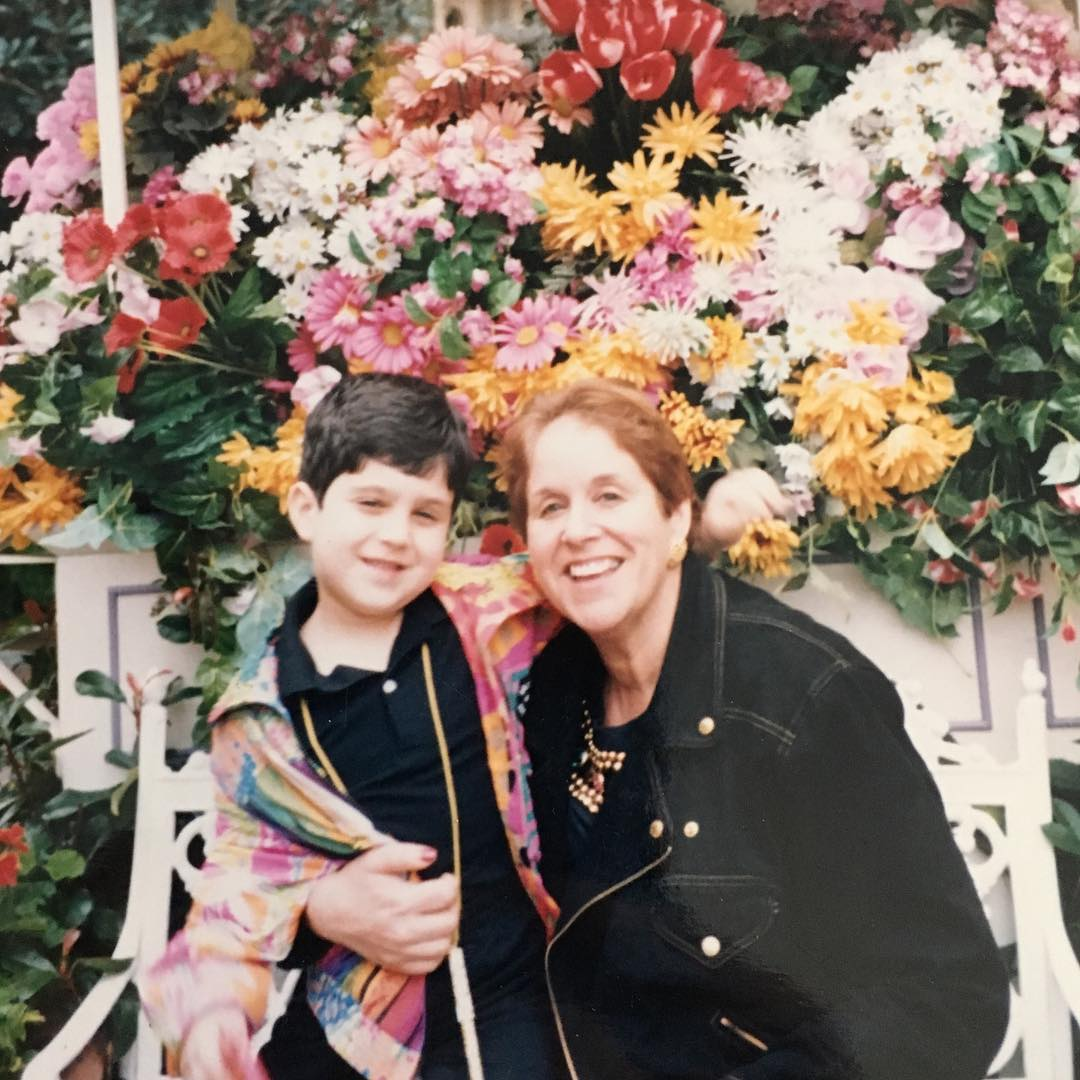 Josh Peck with his mother, Barbara Peck.