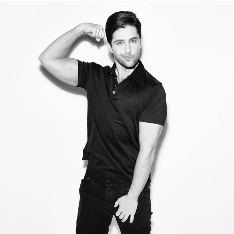 Josh Peck shows off his biceps.