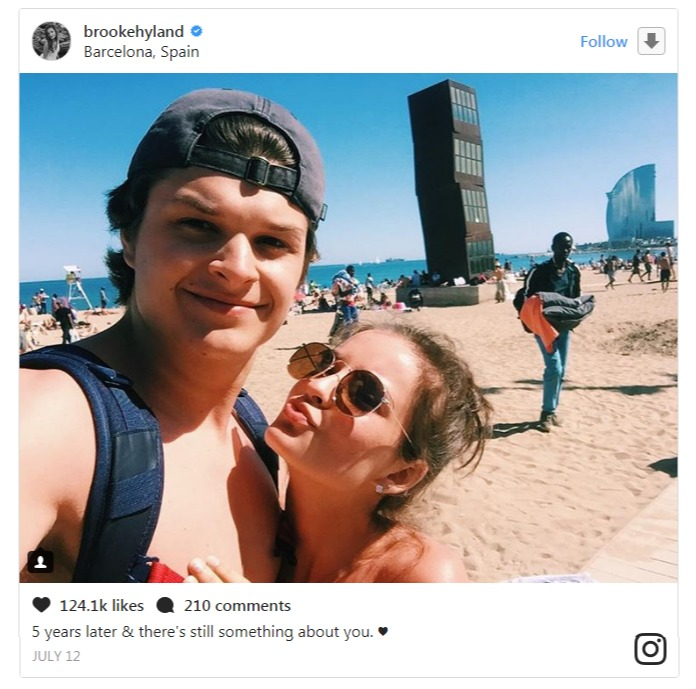Brooke Hyland taking a selfie with boyfriend Nolan Betts