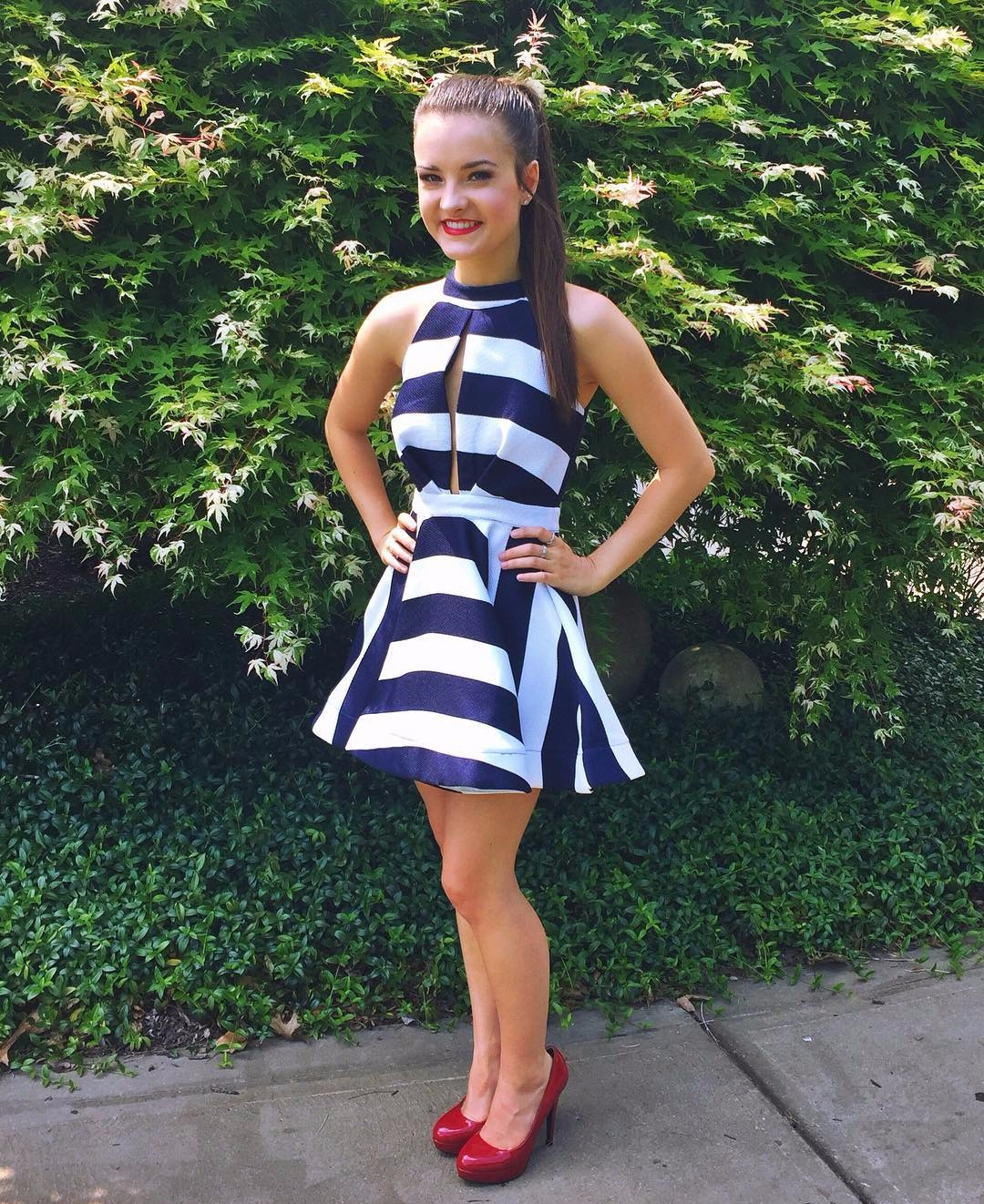 Brooke Hyland flaunting off her hot legs in short dress