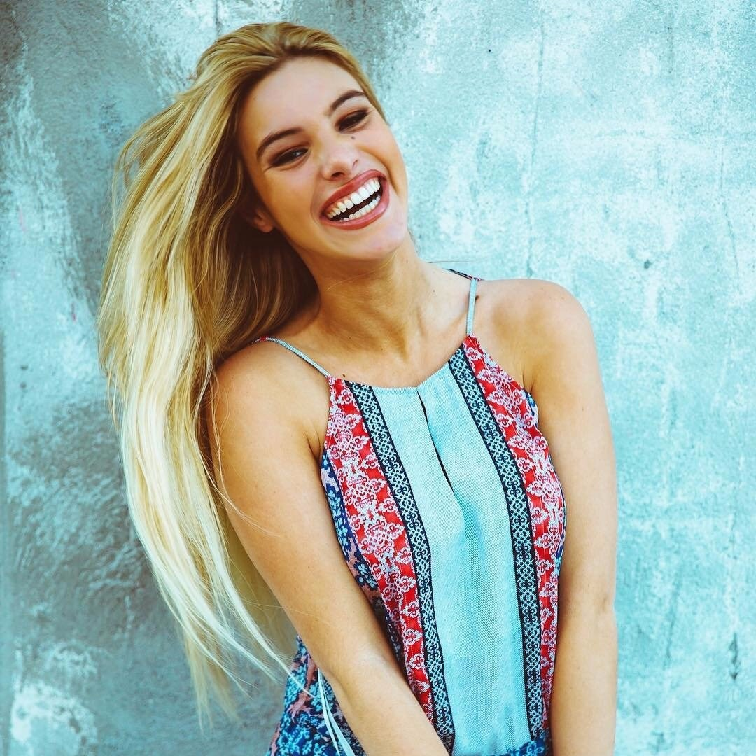 Venezuelan Viner Lele Pons giving a big smile. Her smile has seized the attention of millions worldwide.