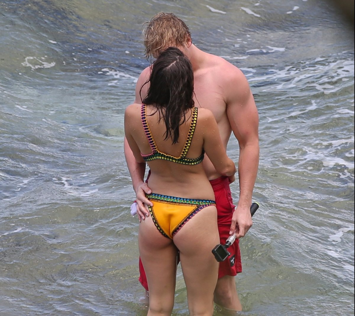 Logan Paul, a famous social media personality was spotted kissing Chloe Bennet, an actress in the beach of Hawaii