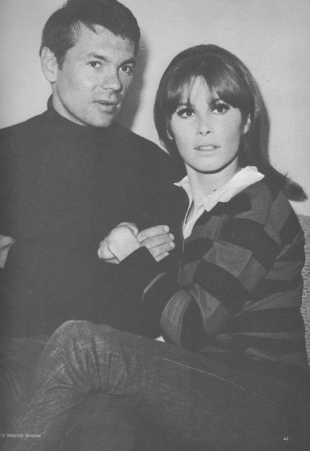 B&W photo of Stefanie Powers and her husband Garry Lockwood