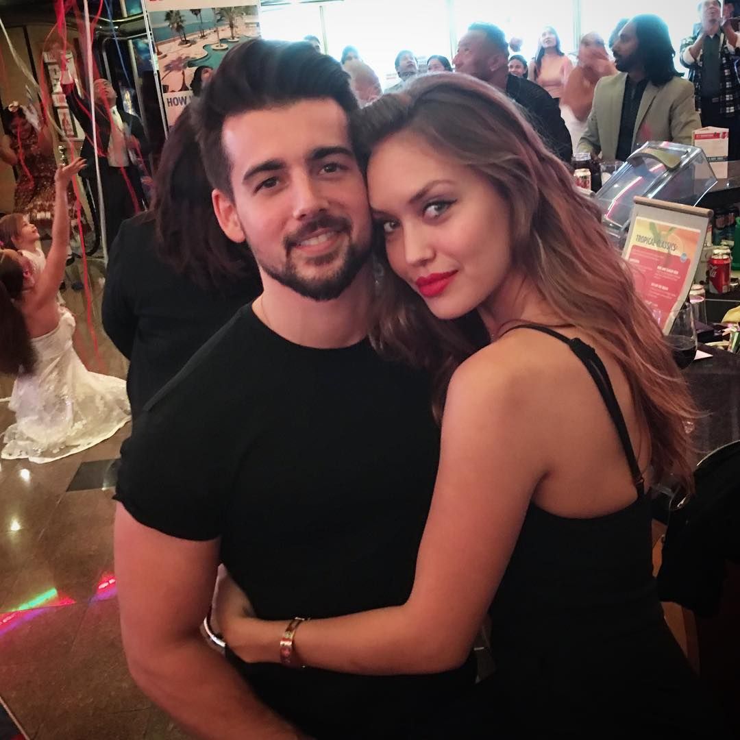 John DeLuca embraced by girlfriend Lidia Rivera