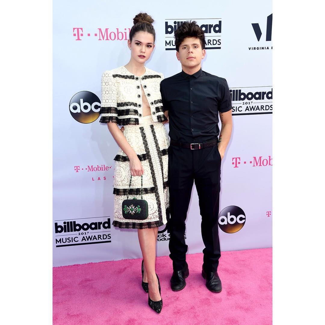 Maia Mitchell standing beside boyfriend Rudy Mancuso