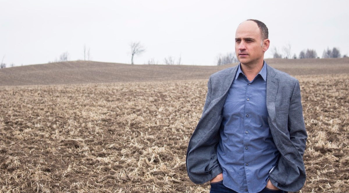 Realtor David Visentin posing for a camera in peaceful environment in countryside