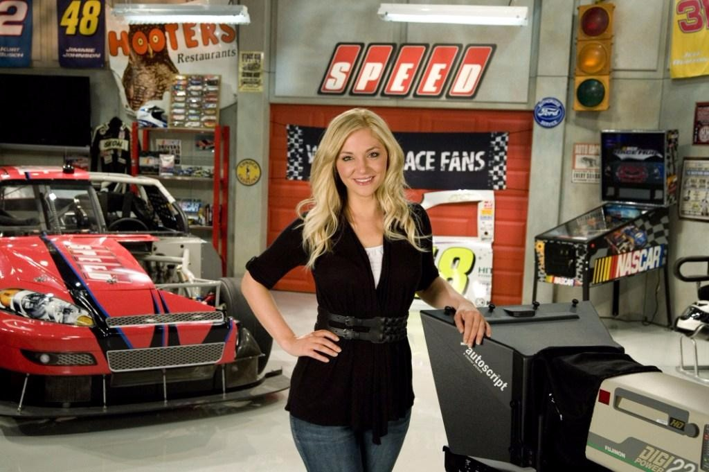 Danielle Trotta on the NASCAR Race Hub. She co-hosted the show for seven years until 2017 February.
