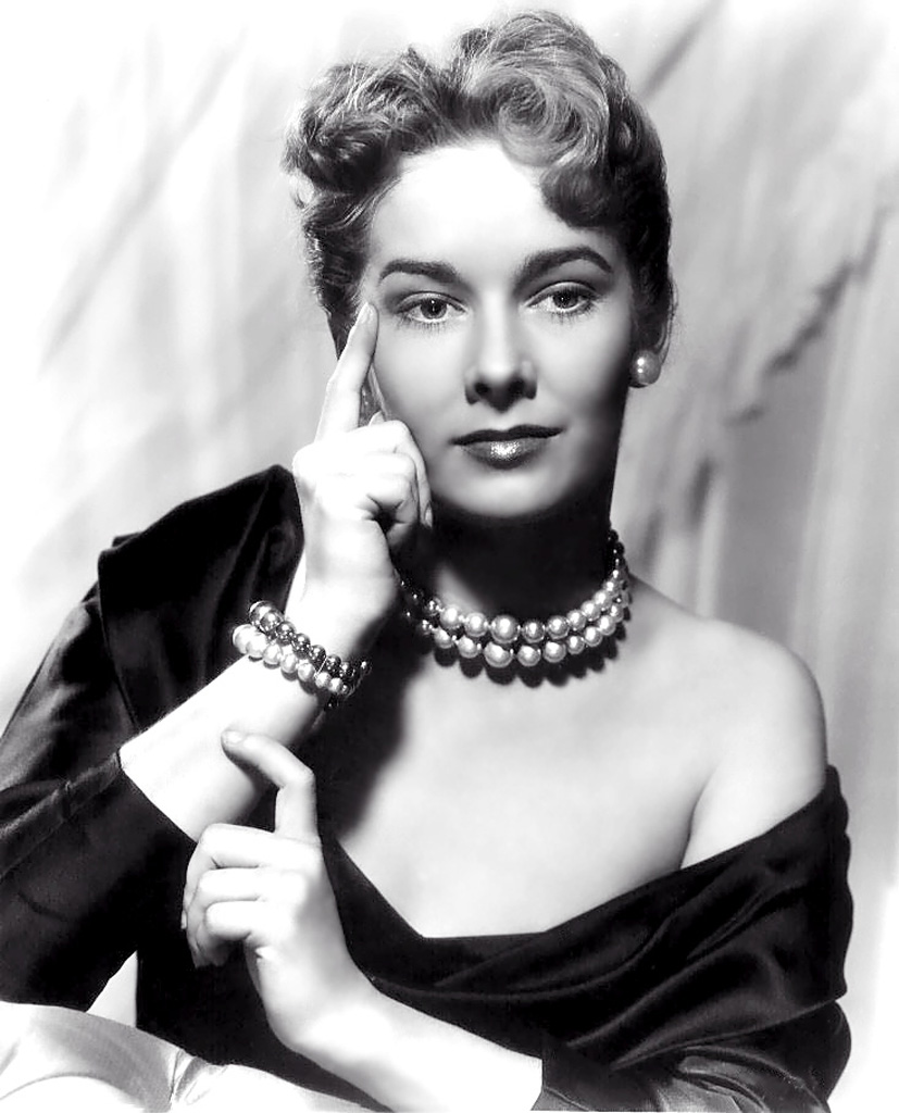 Vera Miles giving the pose that she is thinking