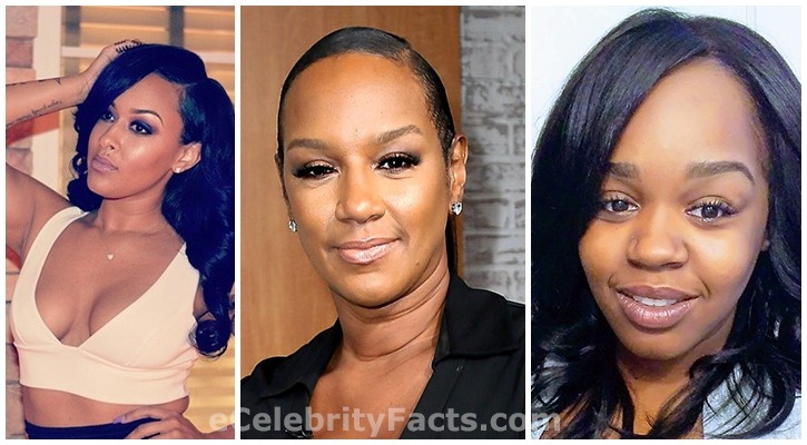 Jackie Christie and her daughters: Takari Lee and Chantel Christie on the right and left respectively