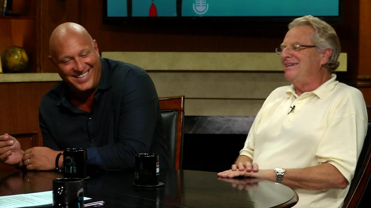 Steve Wilkos shares a laugh with Jerry Springer