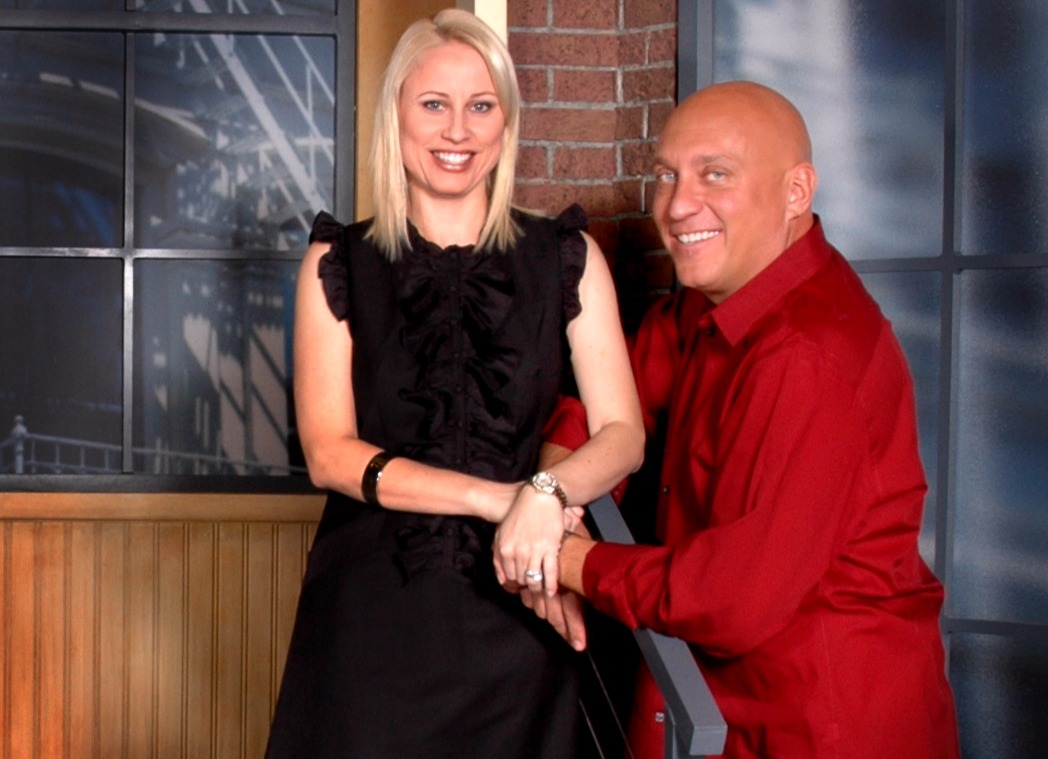 Steve Wilkos and Rachelle Wilkos smiling for a picture.