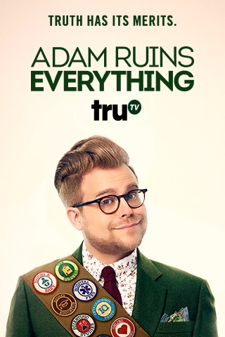 Adam Conover featured in his cover photo of the show Adam Ruins Everything