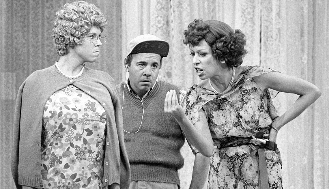 A picture from The Carol Burnett Show. Carol, Tim and another actor is on the picture