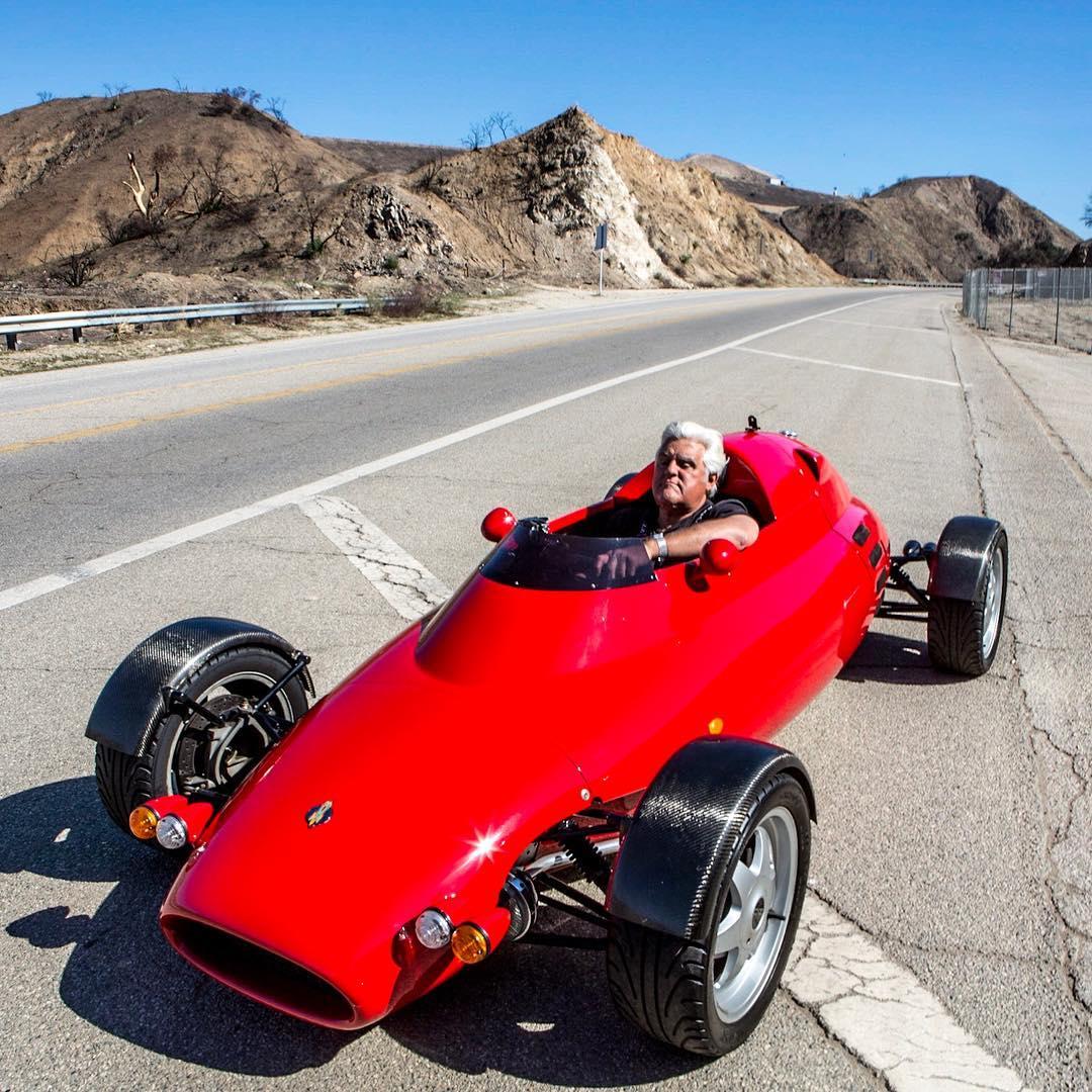 Jay Leno riding his Rocket Car
