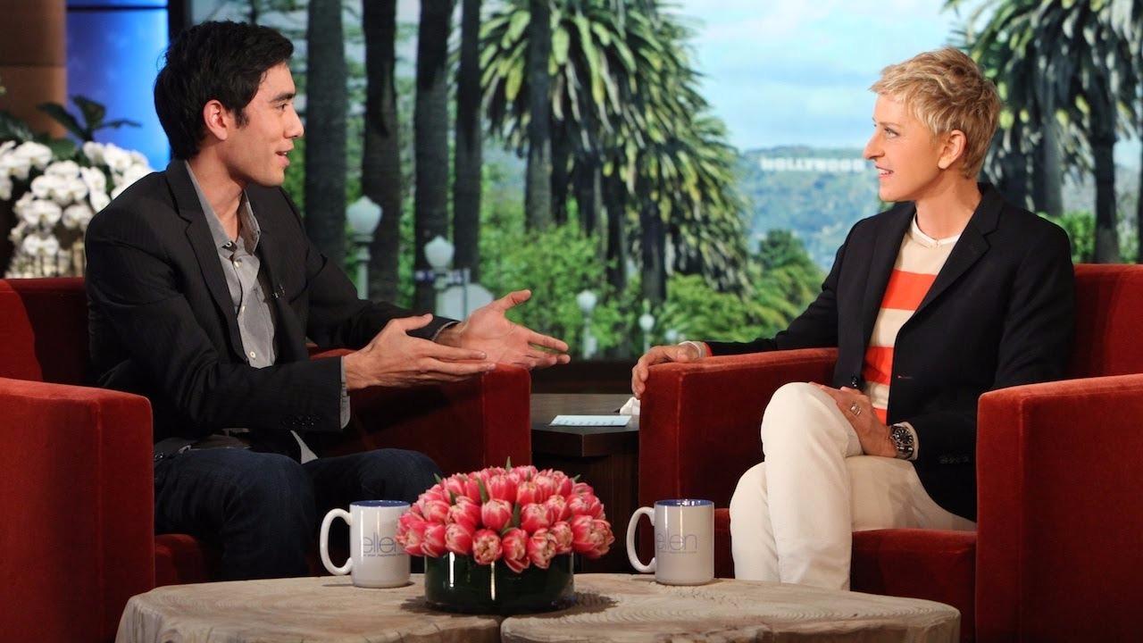 Zach King in the on The Ellen DeGeneres Show in 2014
