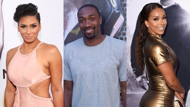 Laura Govan, Gilbert Arenas and Gloria Govan (from left to right)