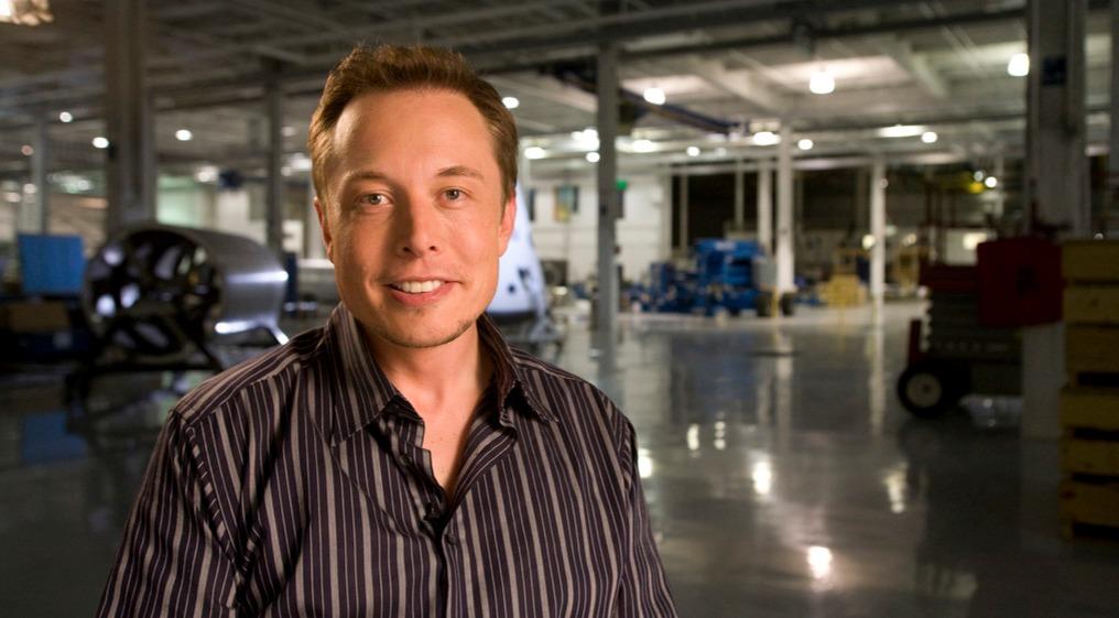 Tesla Motors CEO, Elon Musk looks very handsome as he wears a subtle smile