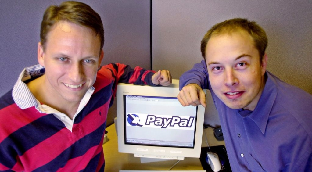 Elon Musk and Peter Thiel: Both while at PayPal