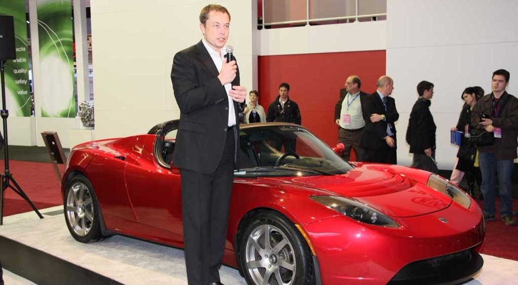 Elon Musk speaking about Tesla Roadster launched in 2008. He has launched several electric cars including Tesla Model 3, Model S, Model S 85D, P85 D and others.