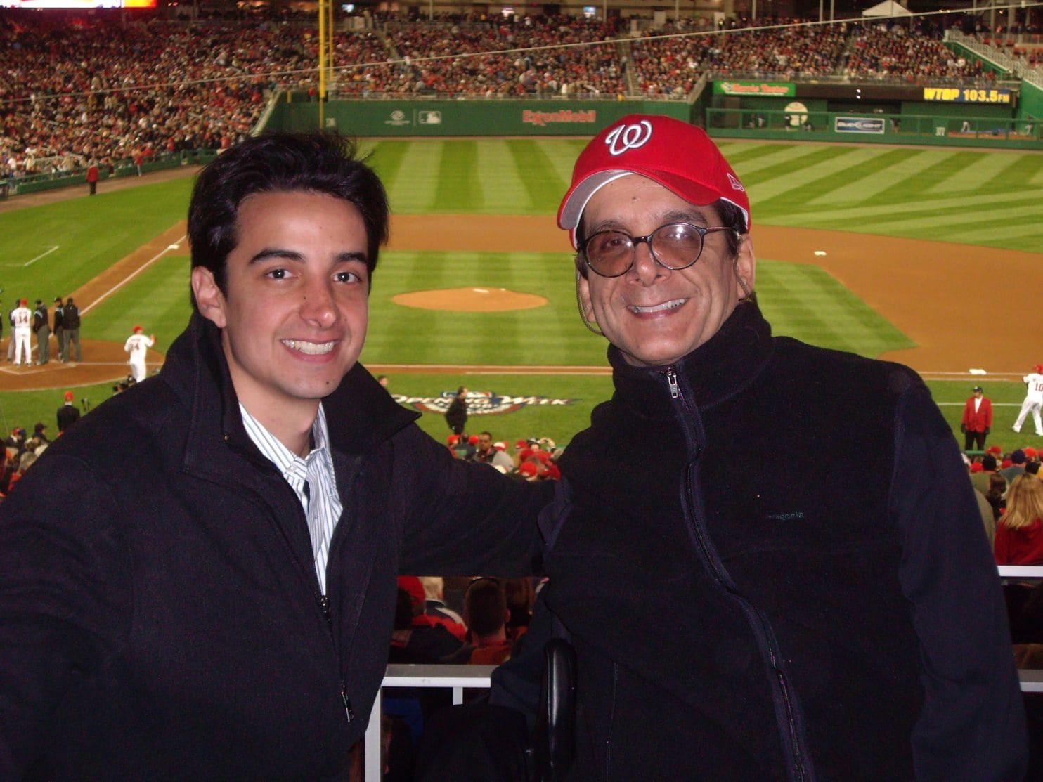 Daniel and Charles at a baseball