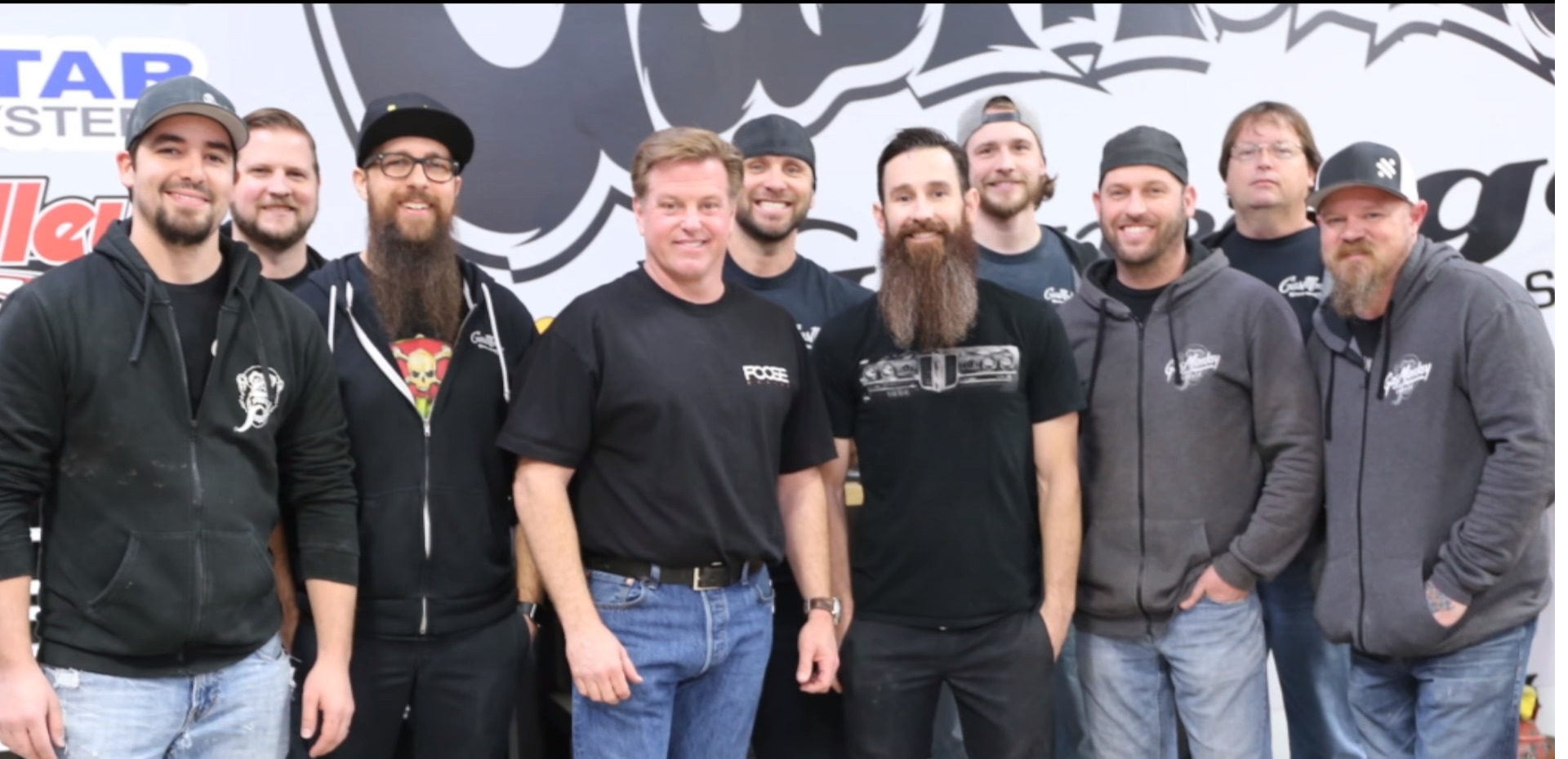 Chip Foose with Gas Mokey Garage team