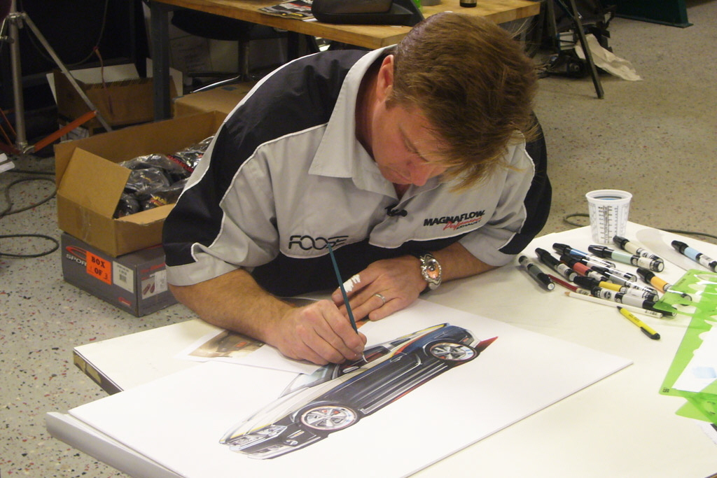 Chip Foose is busy in working with the car design