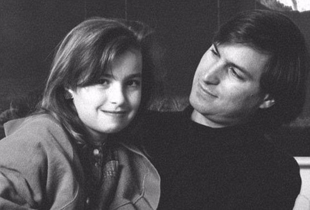 Steve Jobs and his daughter Lisa Brennan-Jobs