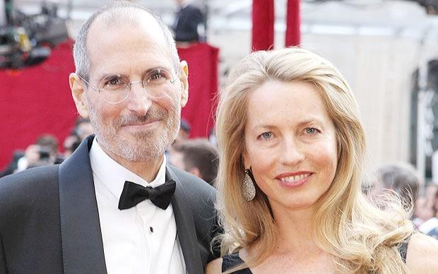 Steve Jobs with his wife Laurene Powell
