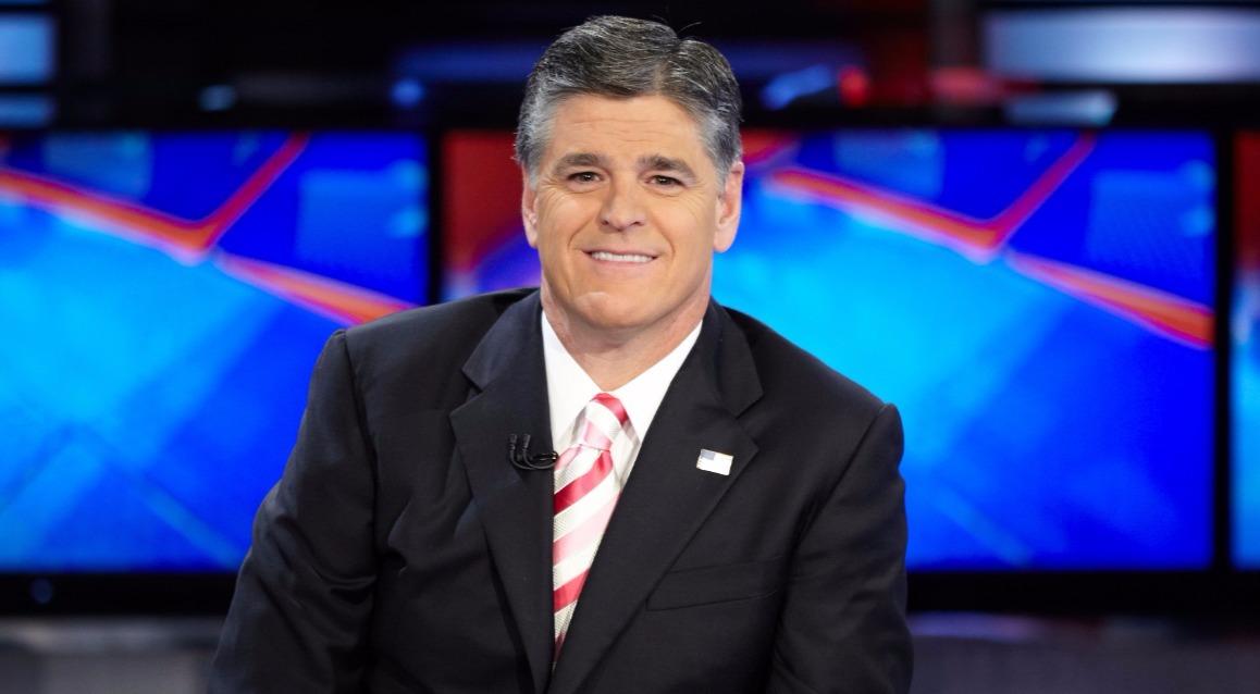 Sean Hannity in television studio