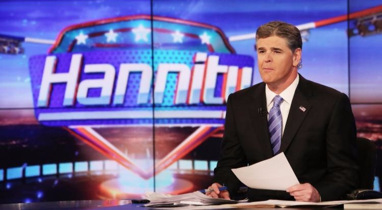Sean Hannity on the set of 'Hannity'