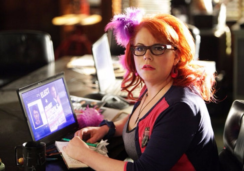 Kirsten Vangsness in one of her scenes from Criminal Minds