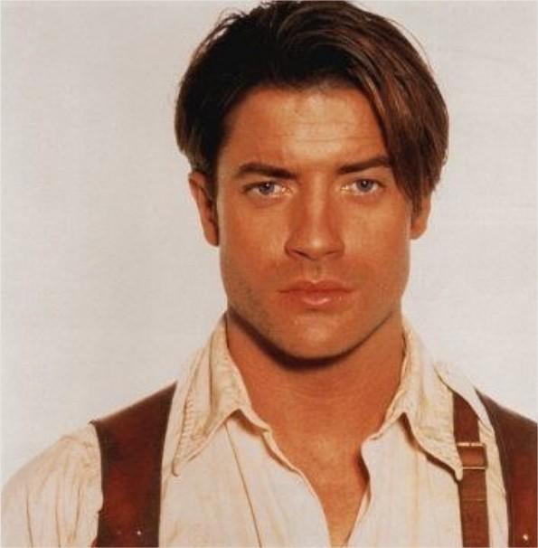 Brendan Fraser portraying the role of  Richard O'Connell in the movie, The Mummy.